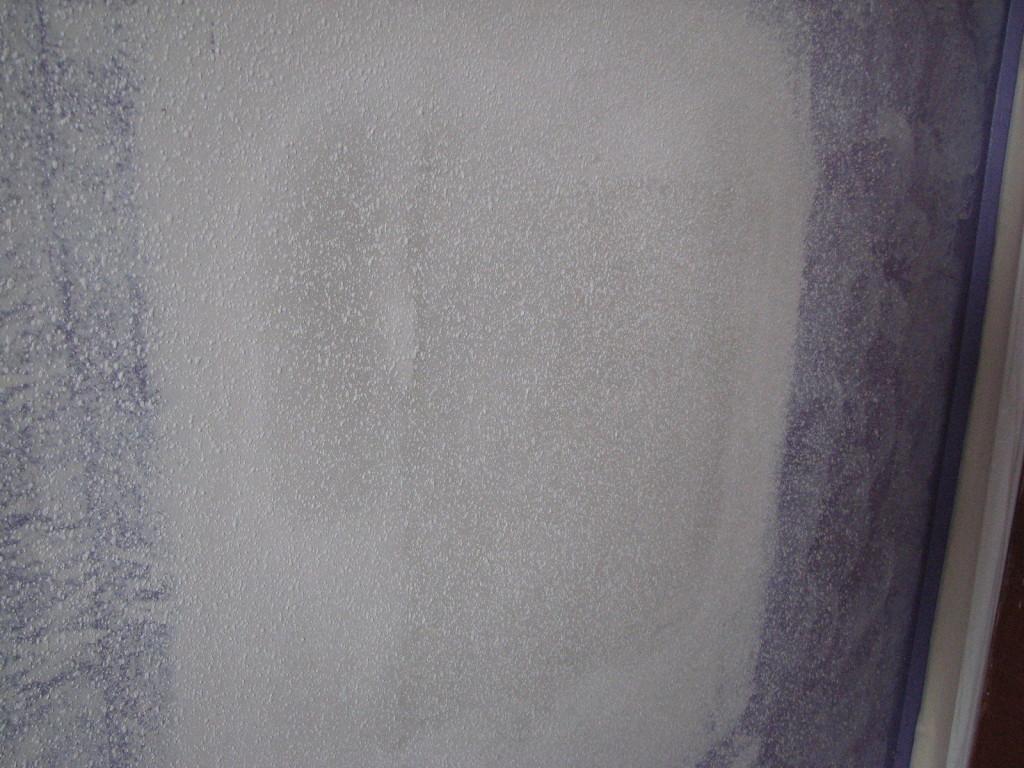 Orange peel texture on a wall repair