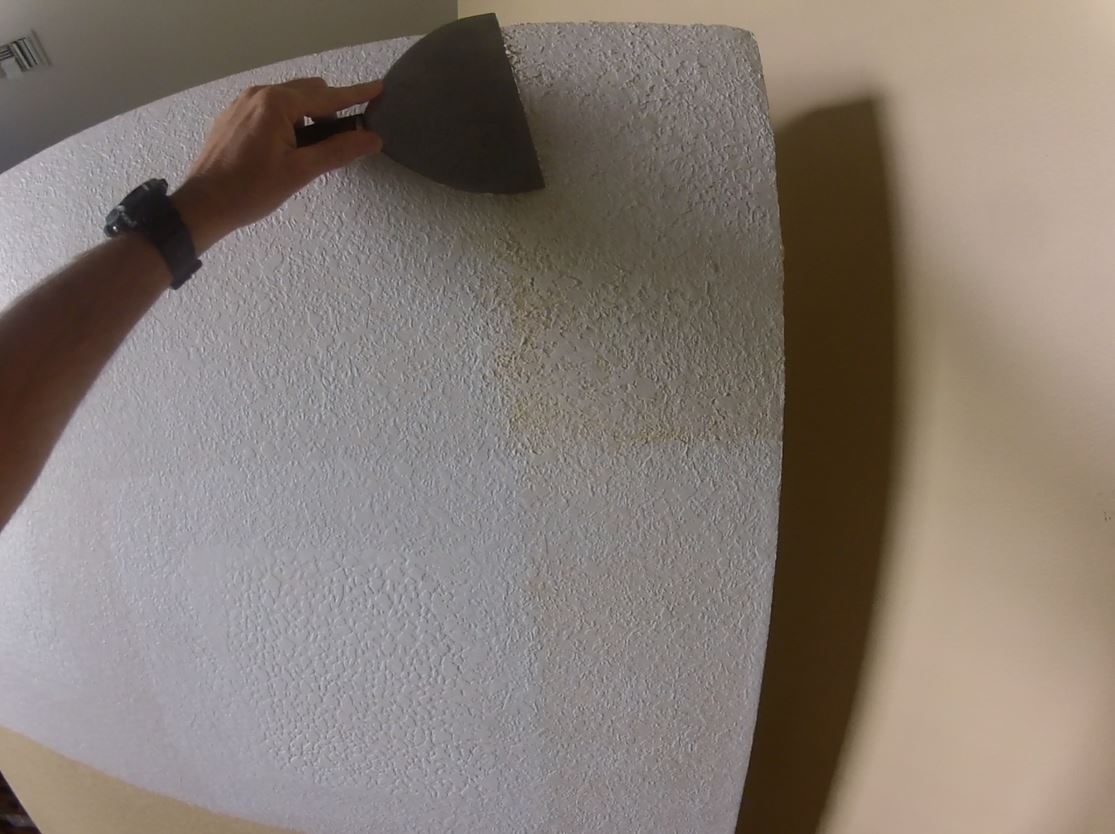 Knocked down texture with a 8 inch drywall knife