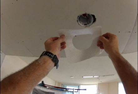 How to drywall miscuts can lights