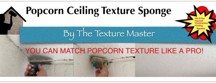 Popcorn texture sponge