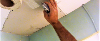 How to repair a water damaged drywall ceiling